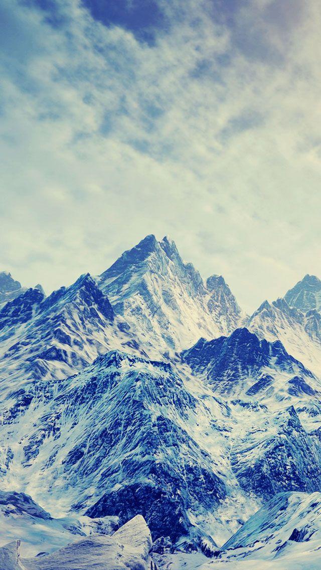 Ice And Snow Mountains Pintar Pantalla