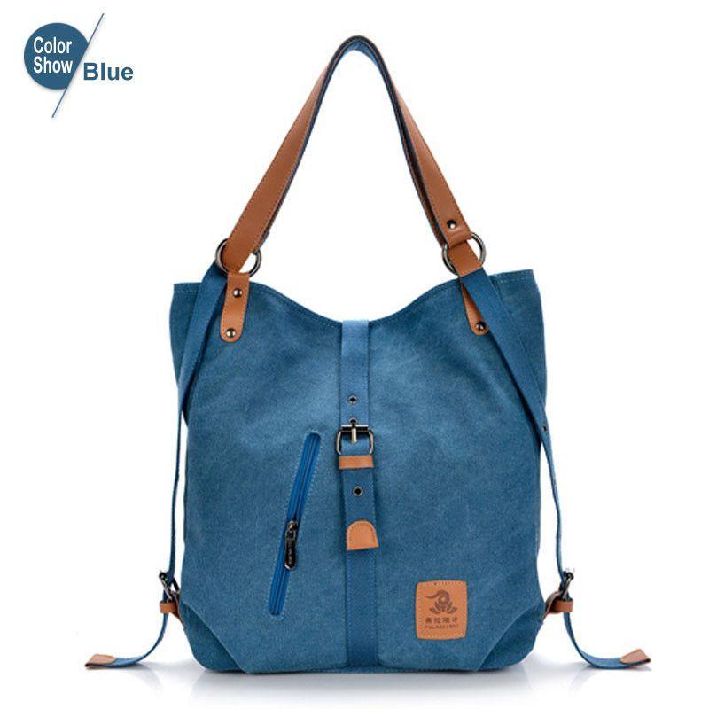 RoyaDong Backpack Women School Bags For Teenagers Canvas Bucket Vintage Side Zipper Belt 2016 Mochila Rugtas Rucksack Sac A Dos