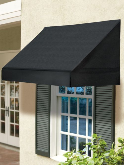 8 Ft Solid Window Awning Shades Retracts To Let In Light
