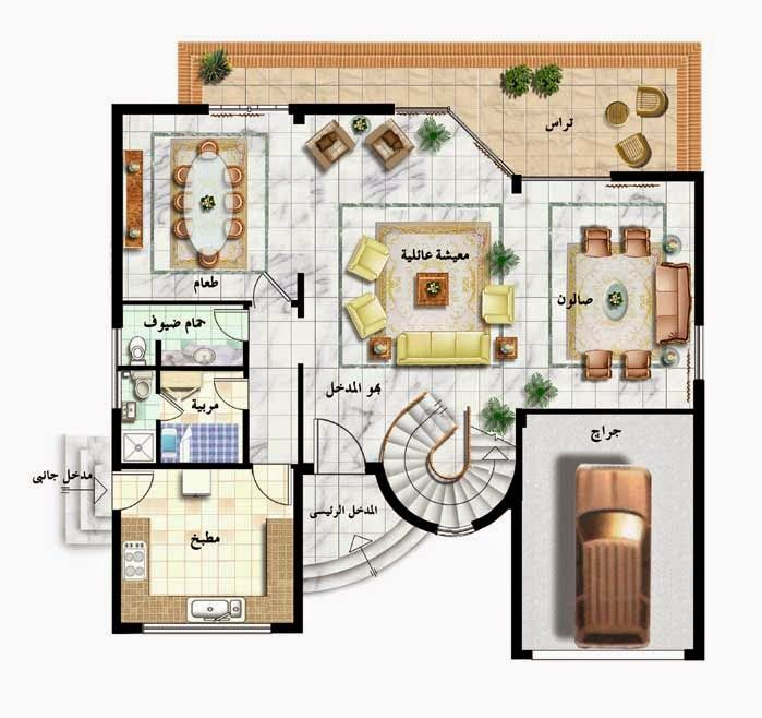 Villa Plans In Saudi Arabia 300 Meter Square Villa Plan Villa