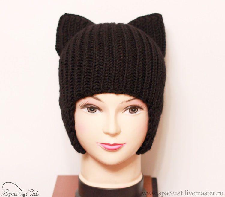 схема вязания шапки с ушками кошки вязаные шапки шали шарфы