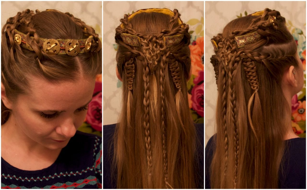 diy viking crown & lagertha inspired hair knots. | peach