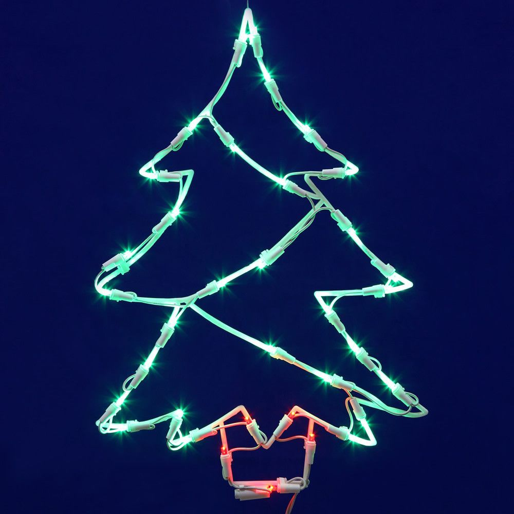 tree window led decor christmas set
