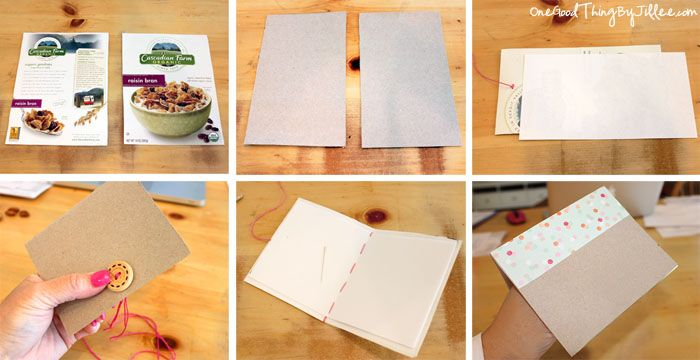 Simple and creative ideas for recycling cereal boxes cereal simple and creative ideas for recycling cereal boxes love the notebook idea ccuart Images