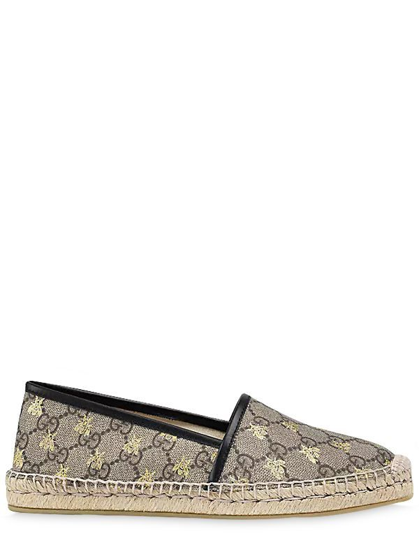 97a248818dd GUCCI 20MM GG COATED CANVAS ESPADRILLES.  gucci  shoes