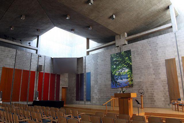 Perfect First Unitarian Church, Rochester, NY. Architect: Louis Kahn.