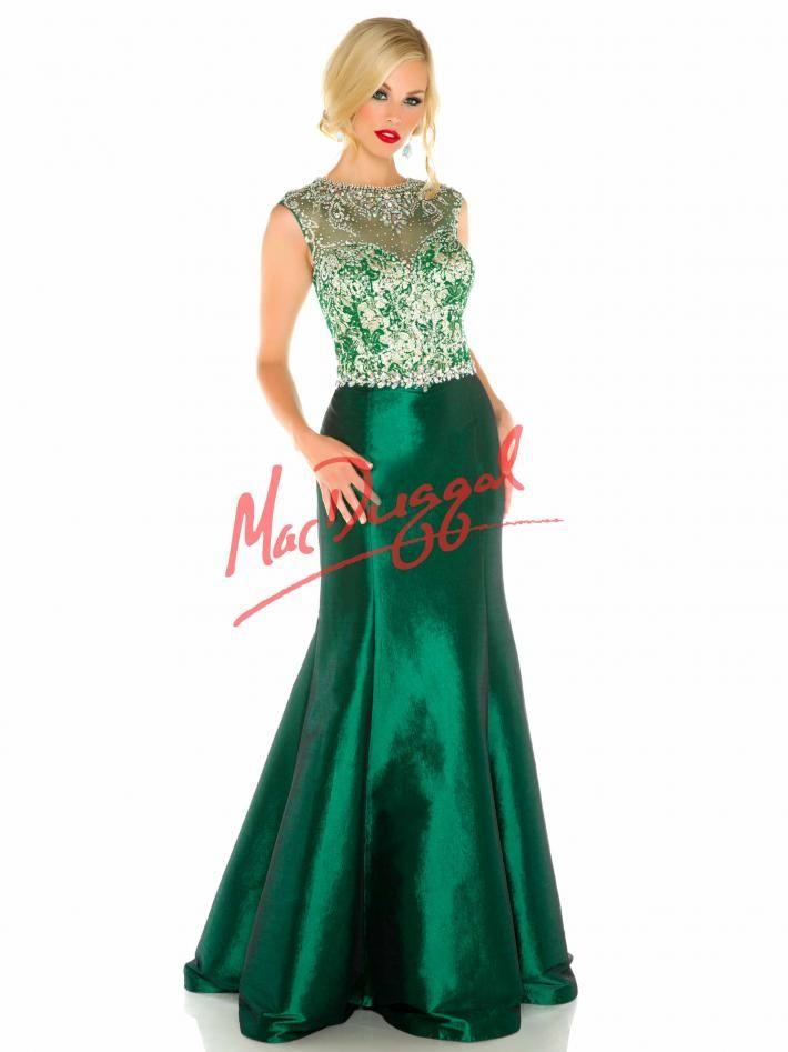 Emerald Prom Dress Vintage Plus Size Prom Gown Mac Duggal 82420f
