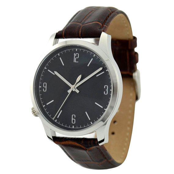Left hand Watch Black Big size by SandMwatch on Etsy