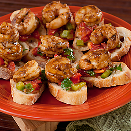 Get a variety of recipe ideas for appetizers, salads, soups & entrées. They are perfect for tailgating, parties, grilling and many more. #jerkshrimp