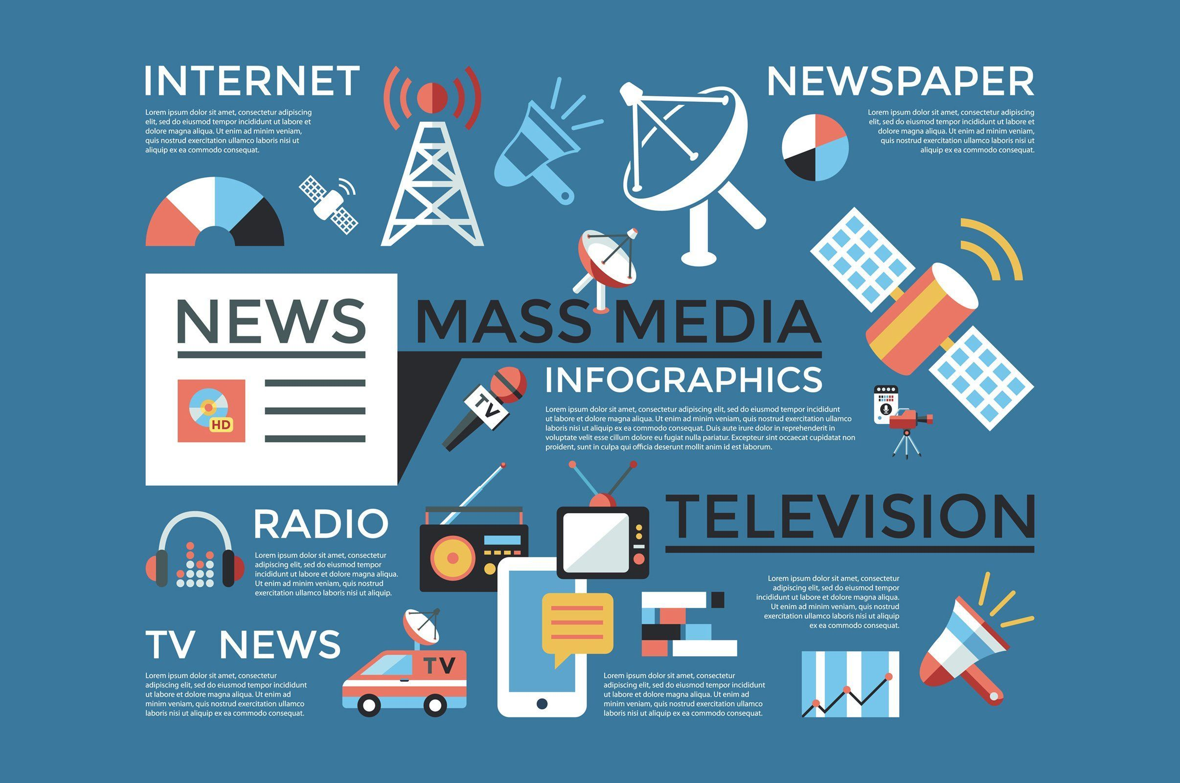 Mess Media Mass Media Media Icon Company Illustration