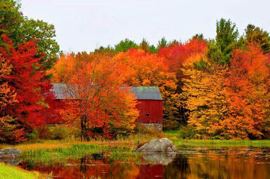 Fall Barn Desktop Wallpaper Autumn Landscape Autumn Scenery Fall Pictures
