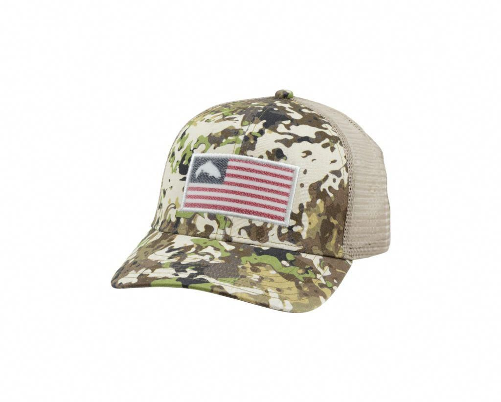 e551c9825969f Simms Tactical Trucker Cap is a classic trucker hat that proudly flies our  trout flag graphic