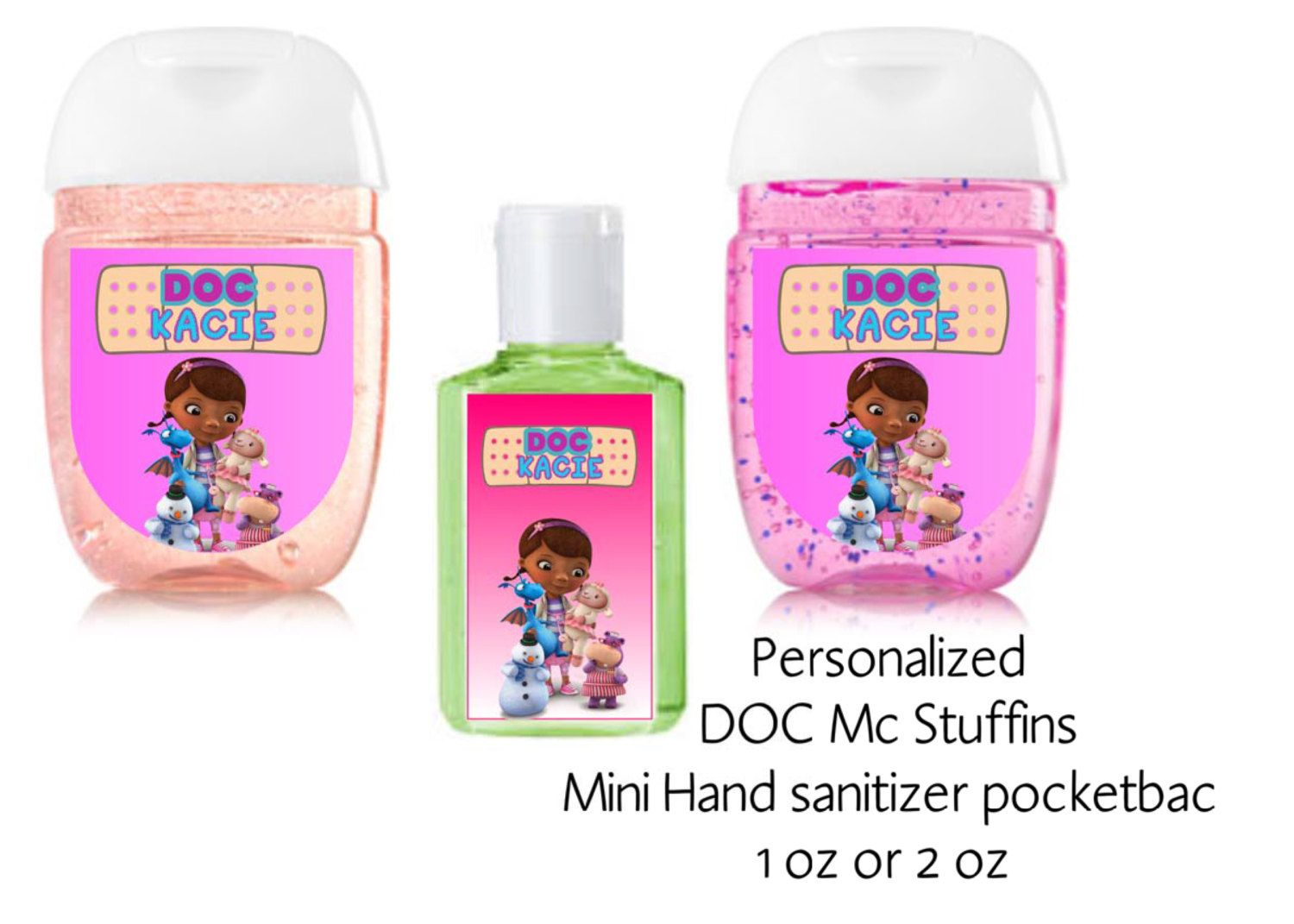 Doc Mcstuffins Hand Sanitizer Label Disney Birthday Party Favors