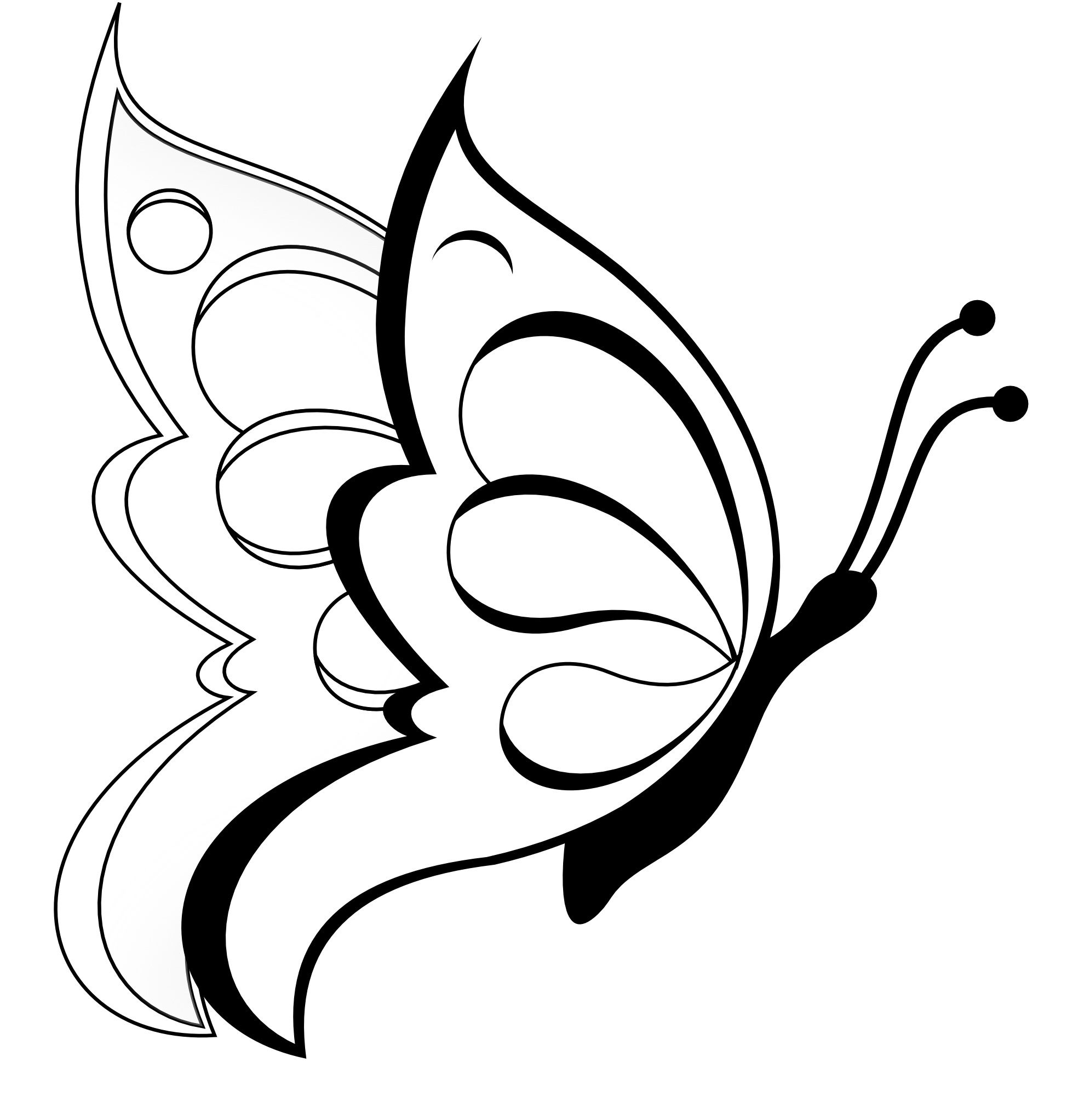 free printable butterfly coloring pages for kids butterfly nails - Kids Free Drawing