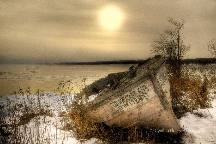 Rustic Beauty- Decaying boat in golden light on Minnesota's North Shore