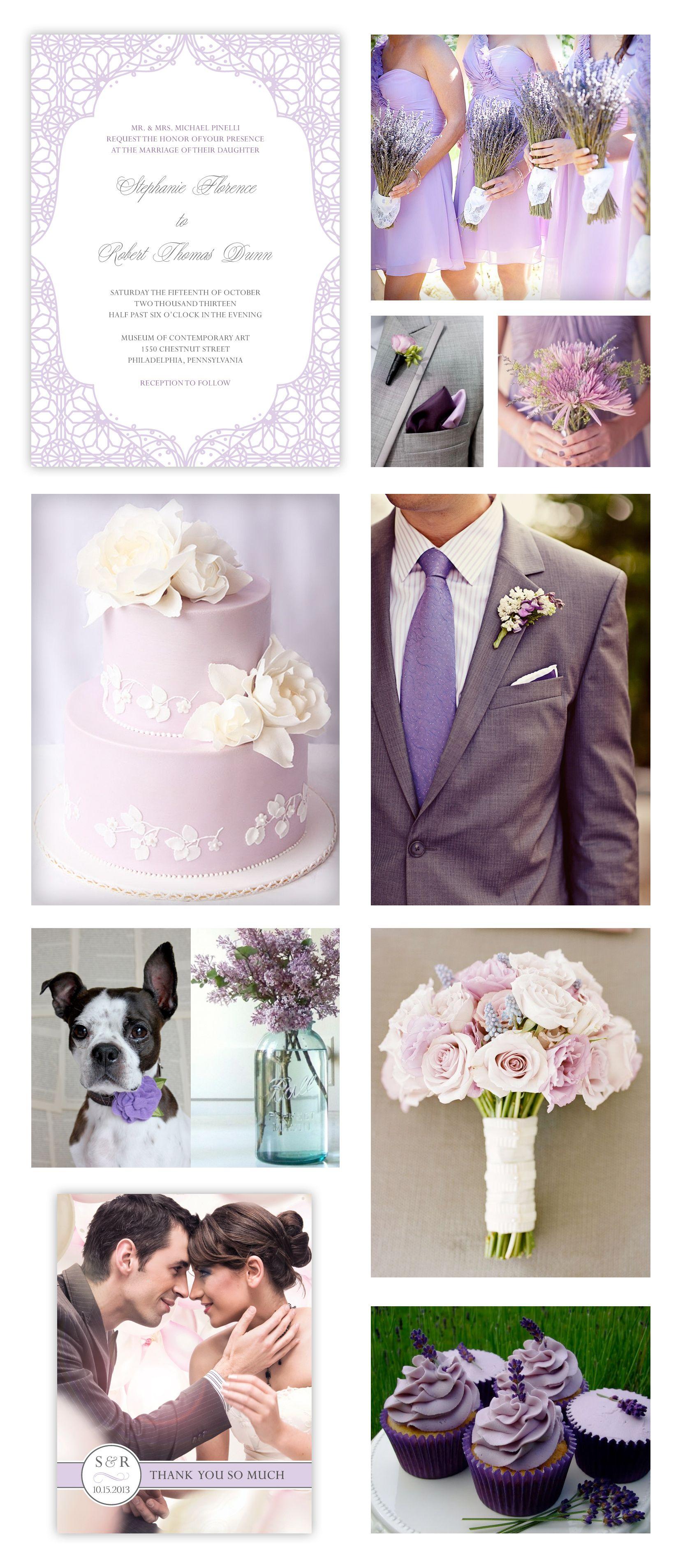 Purple Wedding Theme Lavender Moroccan Pattern Pale Purple