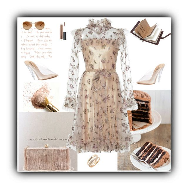 """""""Dress for April"""" by gagenna ❤ liked on Polyvore featuring Yeezy by Kanye West, Jimmy Choo, Effy Jewelry, Tory Burch and MAC Cosmetics"""