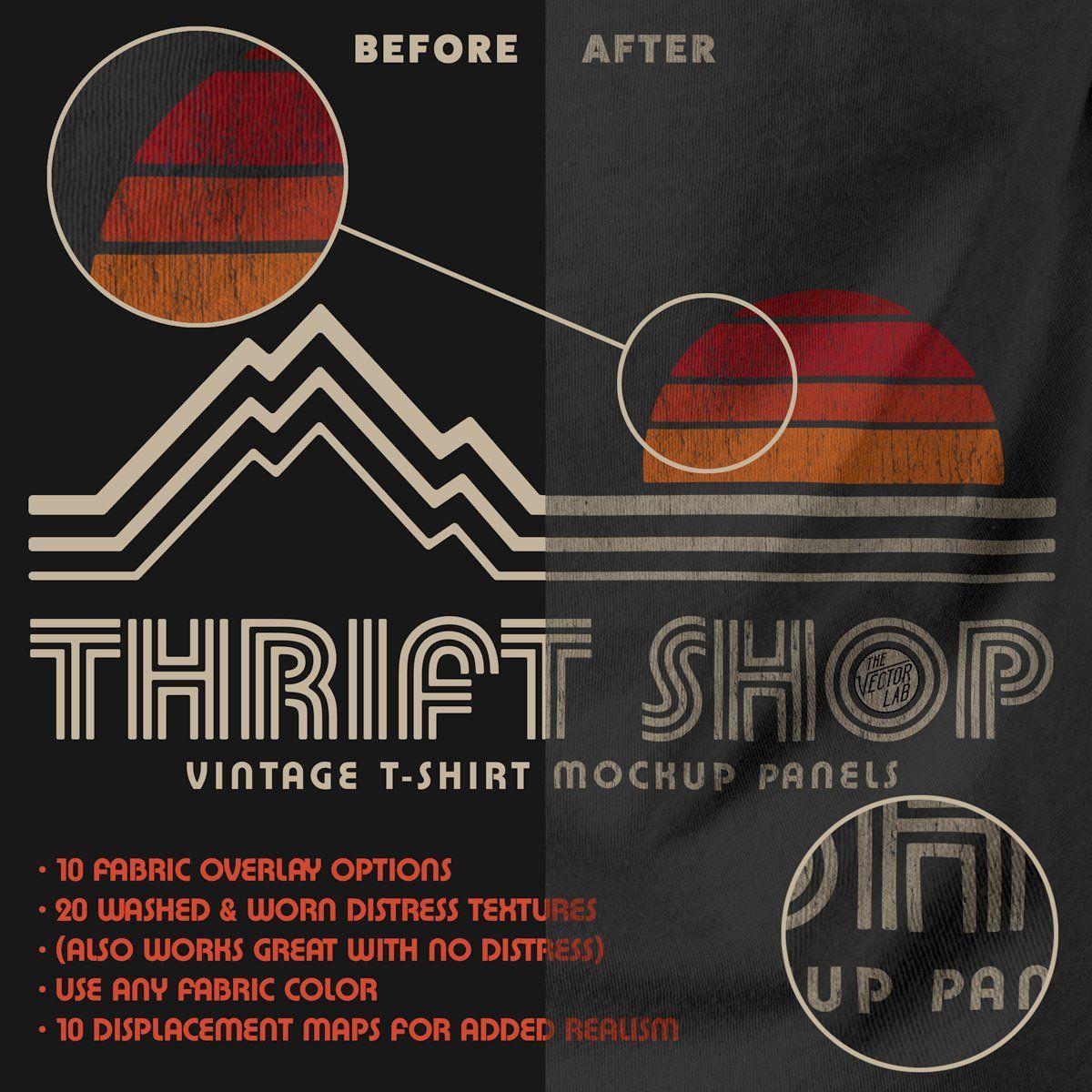 Thrift Shop Vintage T Shirt Texture Template Photoshop Design Photoshop Tutorial Graphics Photoshop Tutorial