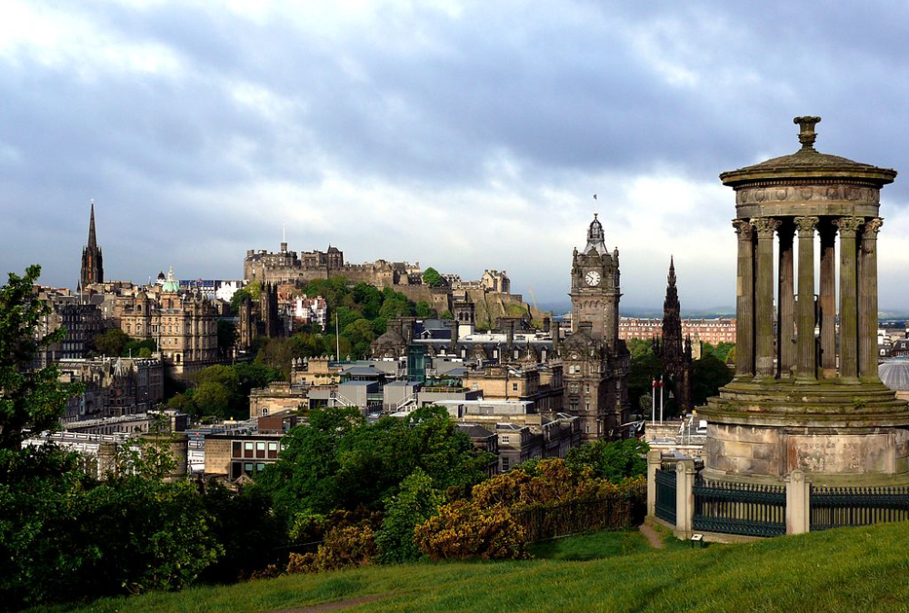 Calton Hill, Edinburg, Scotland.