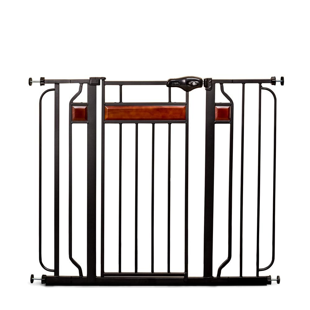 Regalo Home Accents 37 In Extra Tall Metal Walk Through Safety Gate 0320 Ds Baby Gates Extra Wide Baby Gate Wide Baby Gate