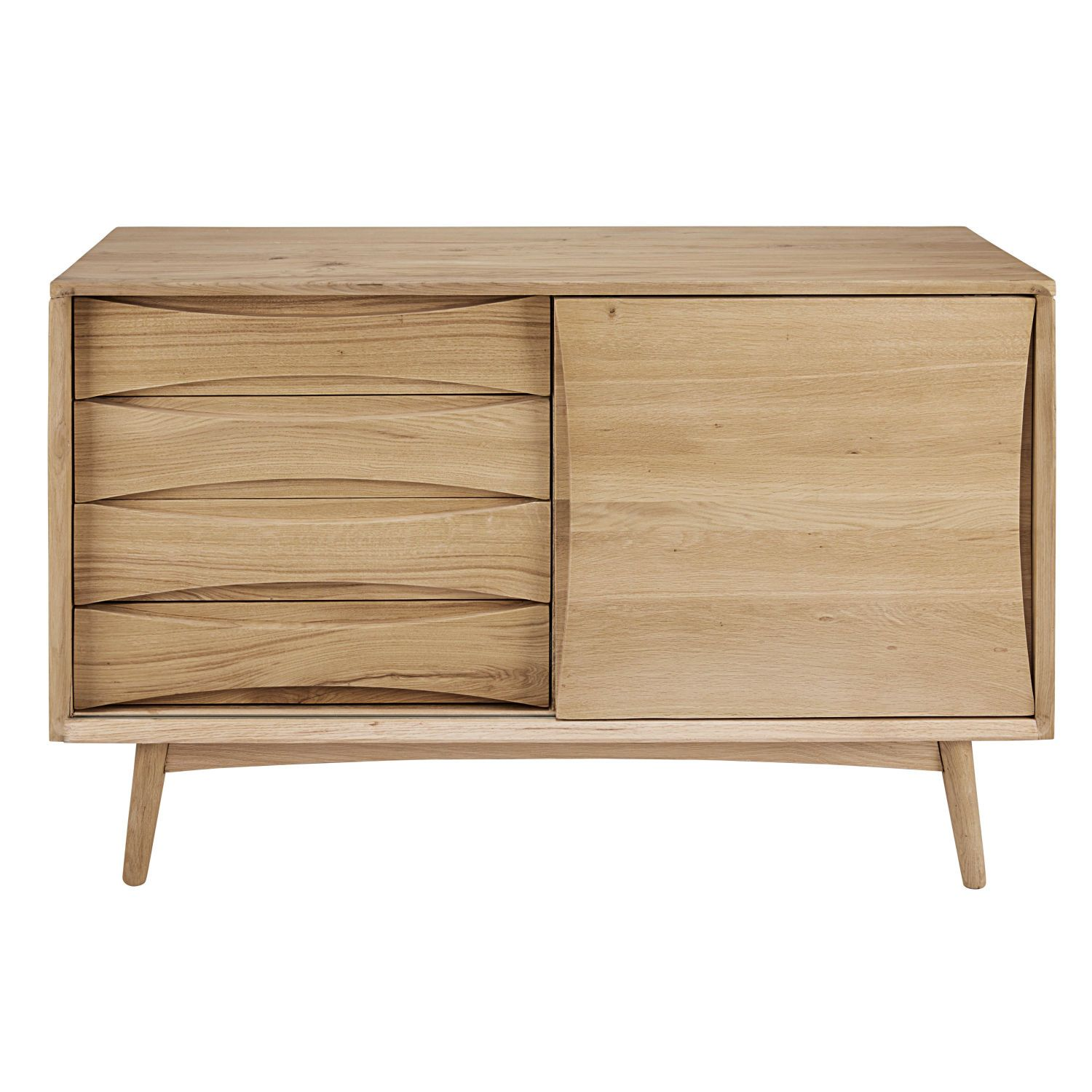 Scandinavian Feelbrighten Up Your Home With This Almond Solid Oak Sideboard Its Light Wood And Clean Lines Are Reminiscent Of The Scandinavian Design Casas