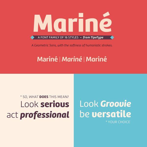 Marine An Extended Family Of Fresh Fonts Design Resources Fonts Design Lettering Design Web Design