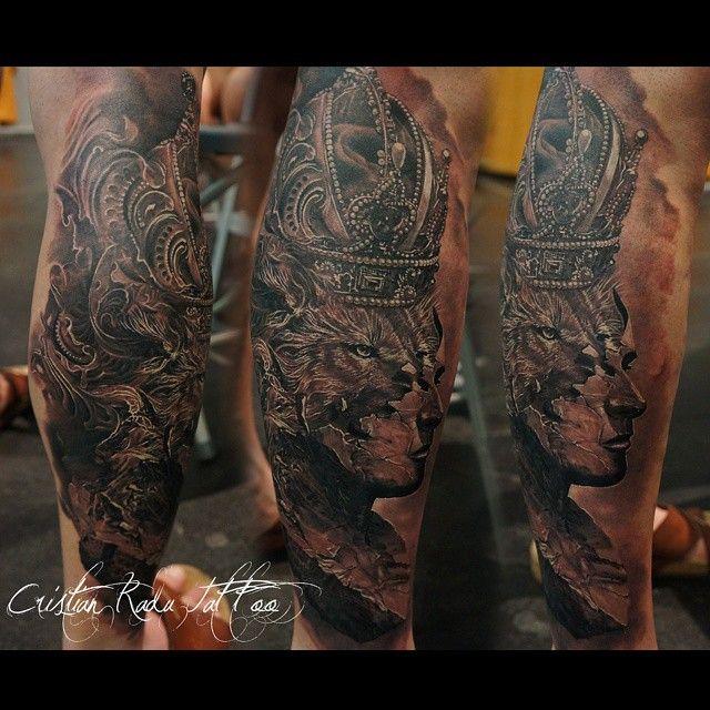Realistic Black White Tattoo By Cristian Radu Tattoo Artist Portret