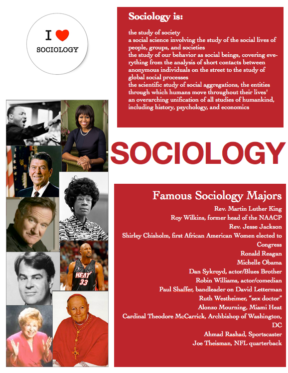 Sociology is... Poster (discipline definition and famous sociology ...