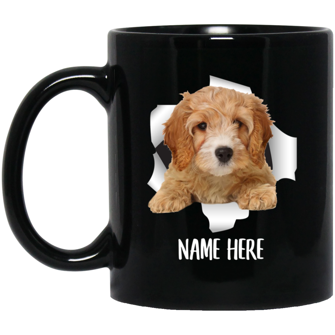 Funny Personalized Cavapoo Golden Custom Name Black Coffee