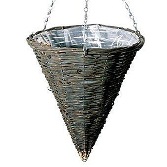 Willow Cone Shaped Hanging Basket And Chain 14 5 95 Hanging Baskets Basket Planters Hanging