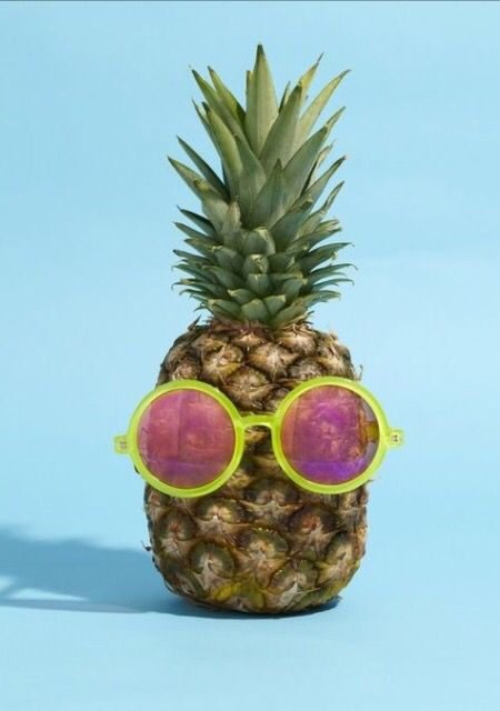 • Pineapple in sunglasses. •