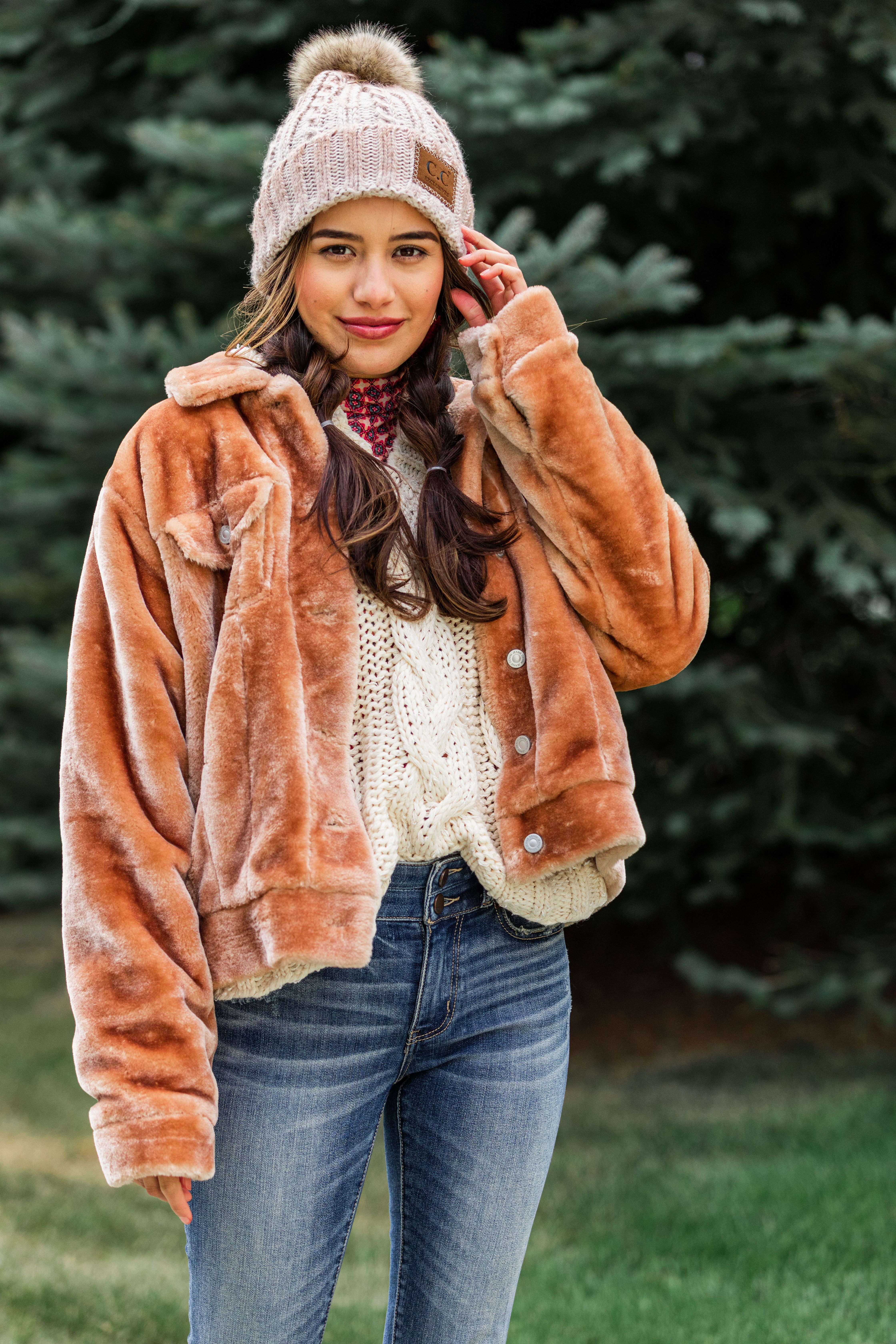 Women S Faux Fur Trucker Jacket Cute Fall And Winter Outerwear Jackets For Women Winter Outerwear Coats Jackets [ 6720 x 4480 Pixel ]
