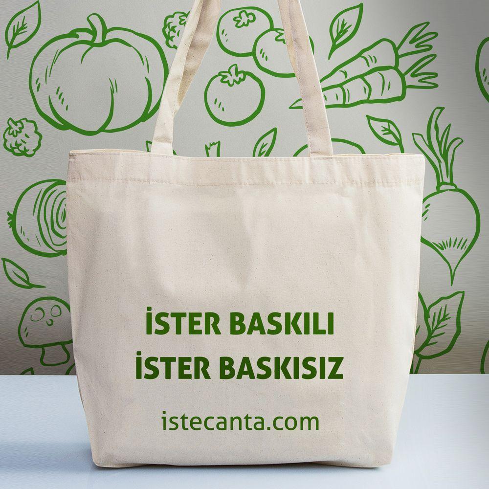 0d286e45e9372 Yıkanabilir, uzun süre kullanıma uygun ham bez alışveriş çantası İşte Çanta'da!  Hemen