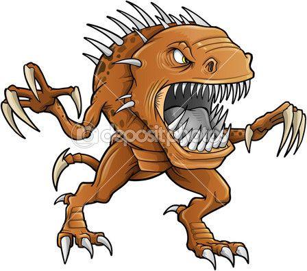 Демон монстр зверь вектор