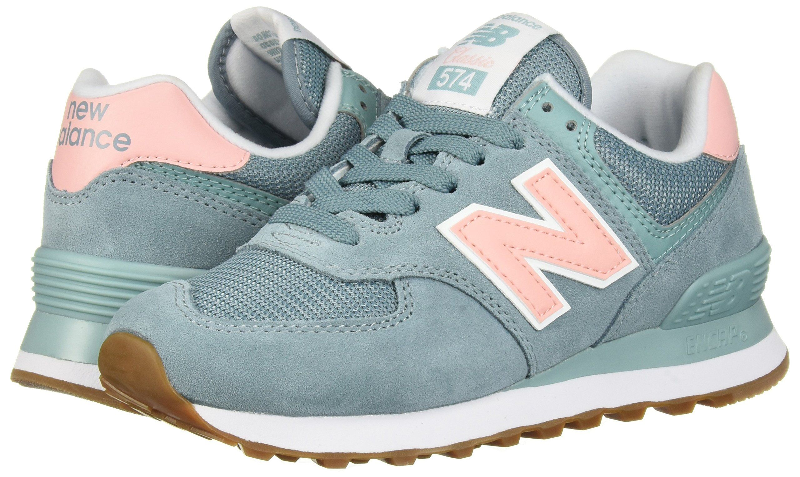 New Balance Womens 574v2 Sneaker Smoke Blue 8 B US ** Check ...