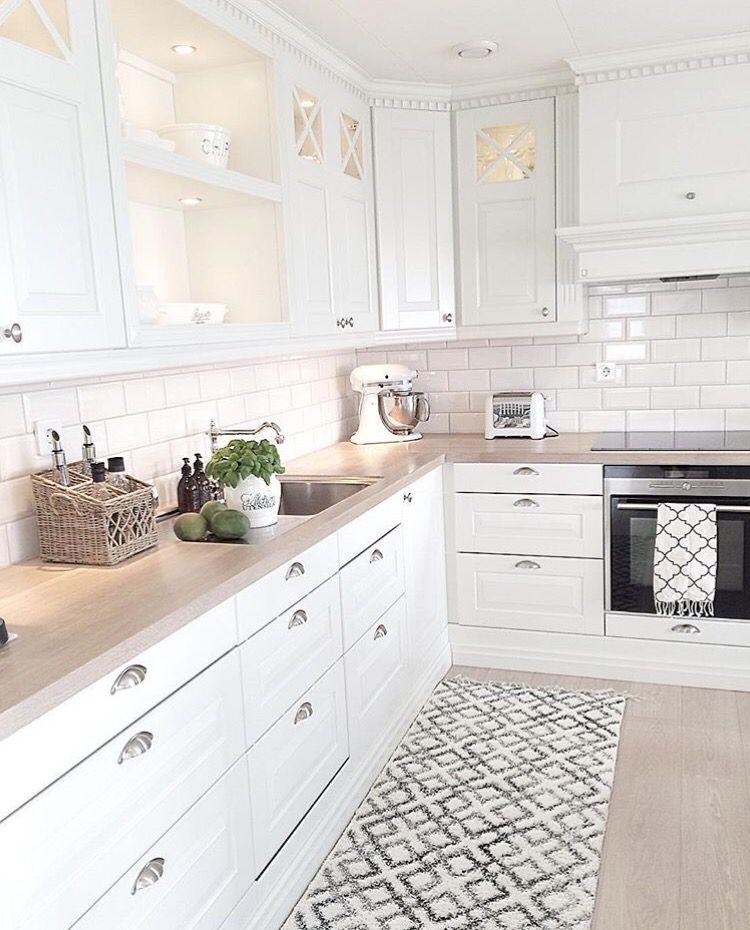 Branco E Madeira Deci Cozinha Kitchens Design De