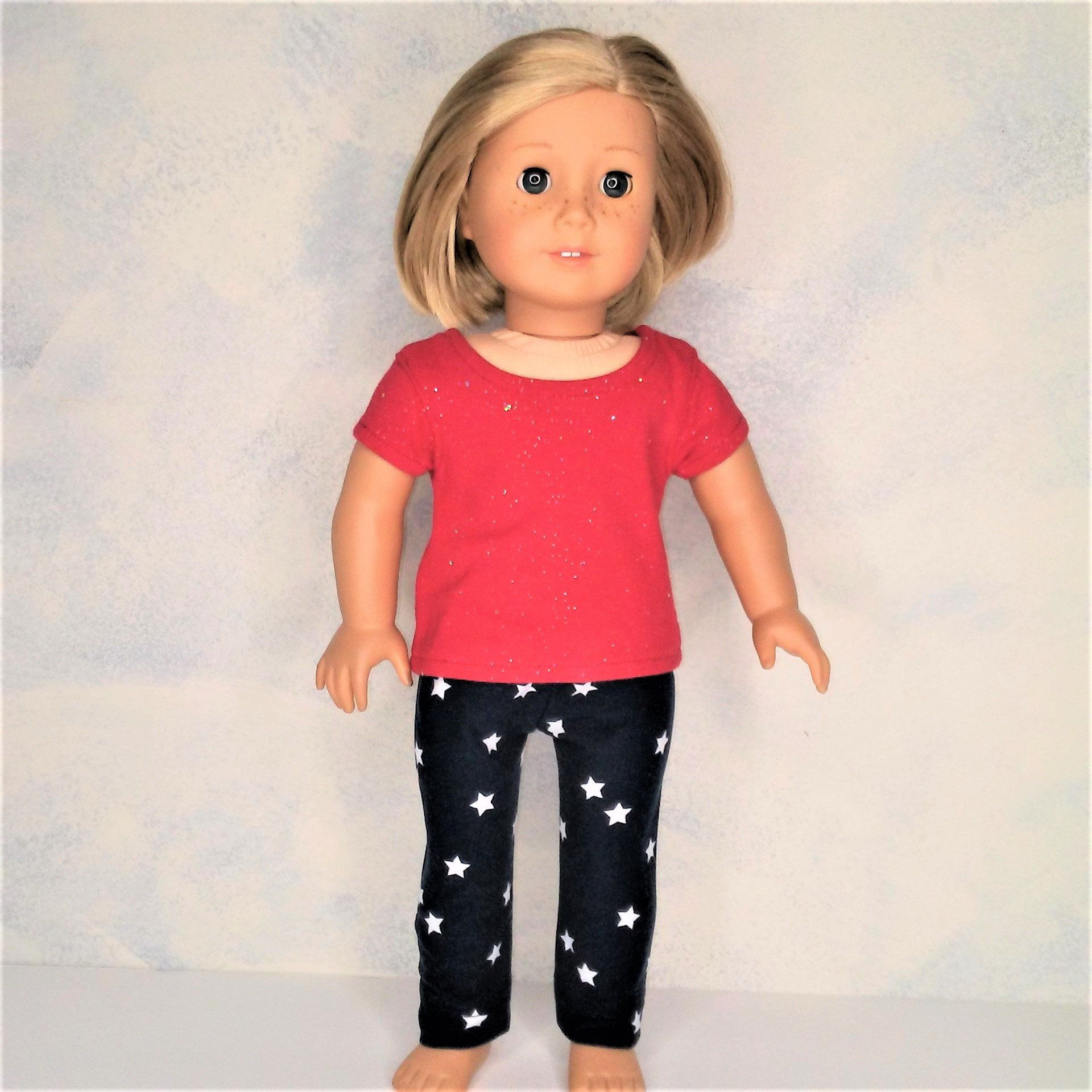 Patriotic Shorts Set for American Girl Dolls 18 Inch Doll Clothes