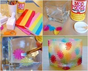 diy stained glass candle holder praktic ideas find fun art