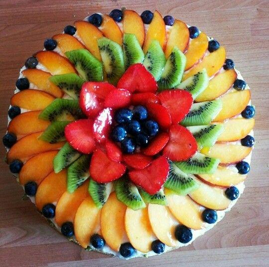 Fruit Swirl Cake Food Garnishes Fruit Dishes Food