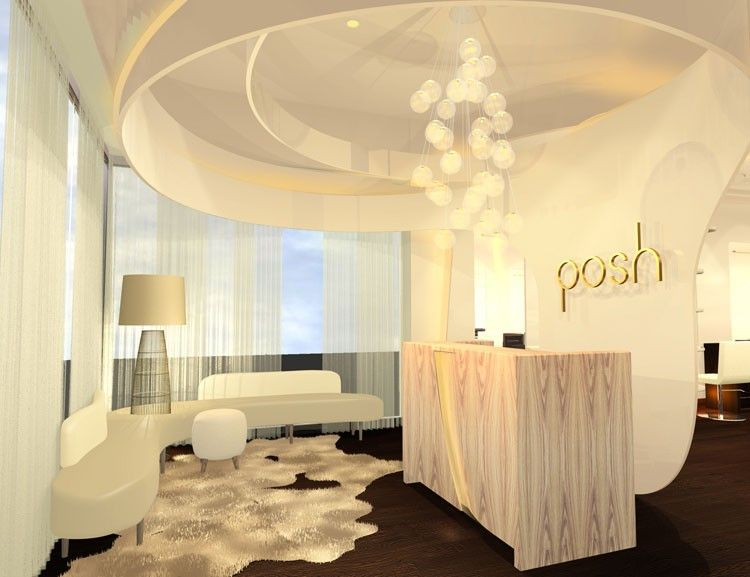 Posh hair salon spa queens ny bluarch studio 5 for Interior decor names
