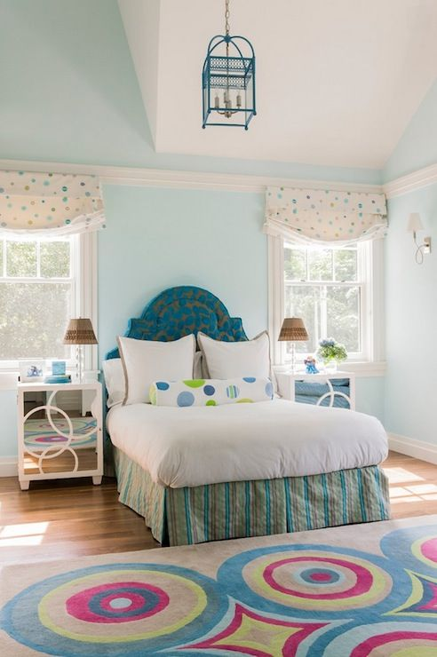 Jill Litner Kaplan Interiors   Girlu0027s Rooms   Benjamin Moore   Woodlawn  Blue   Blue Walls