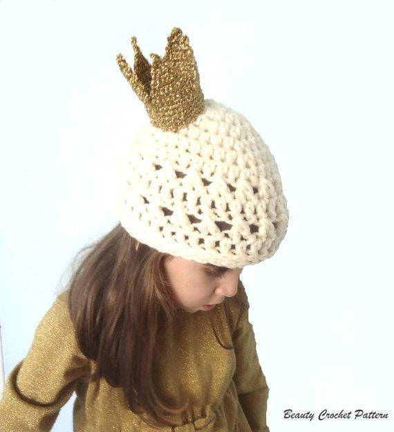 Crochet Queen\'s Hat PatternNewbornAdult by BeautyCrochetPattern ...