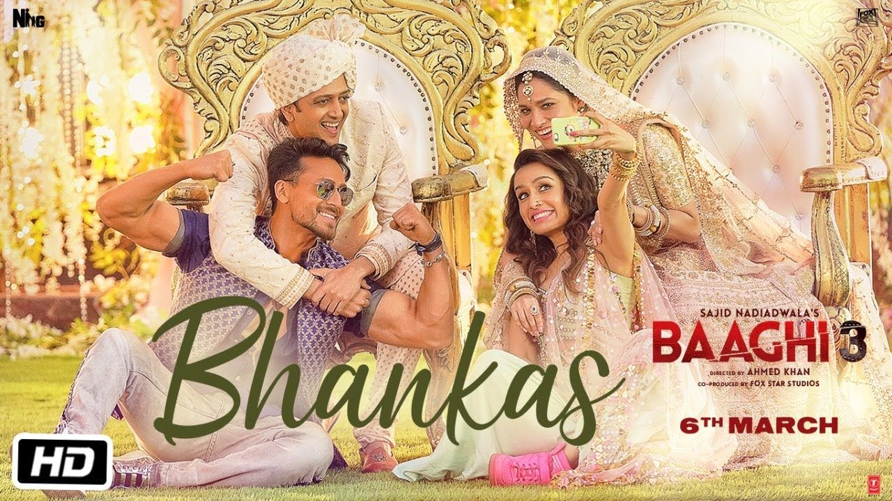 Bhankas Lyrics From Baaghi 3 Is The Most Recent Hindi Song Sung By