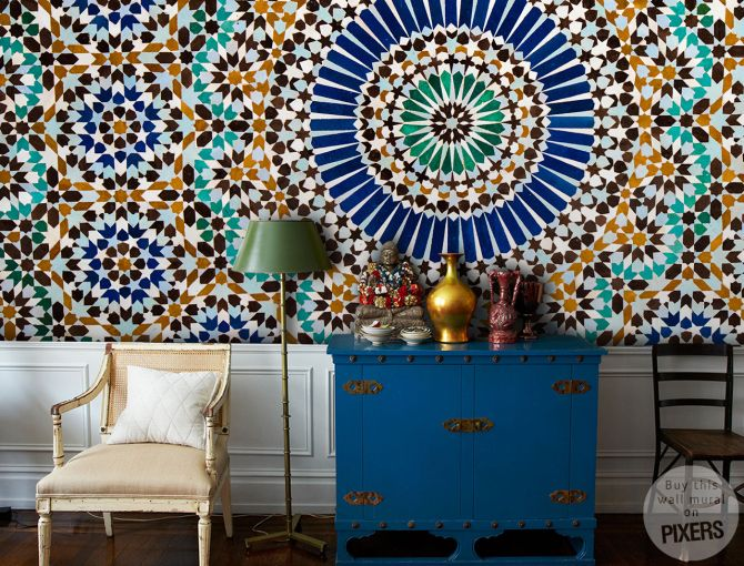 pattern Moroccan Colonial Living room Pixers We live to