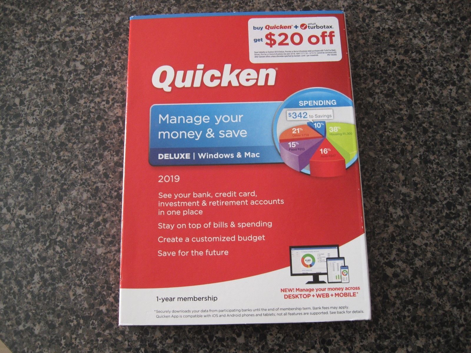 Personal Finance Tax And Legal 158906 Quicken Deluxe 2019 1 Year