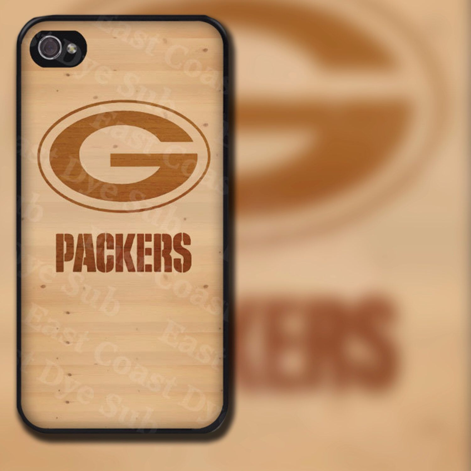 Green Bay Packers Light Wood Look Design on iPhone 4 / 4s / 5 / 5s / 5c / 6 / 6 Plus Rubber Silicone Case by EastCoastDyeSub on Etsy https://www.etsy.com/listing/129768053/green-bay-packers-light-wood-look-design
