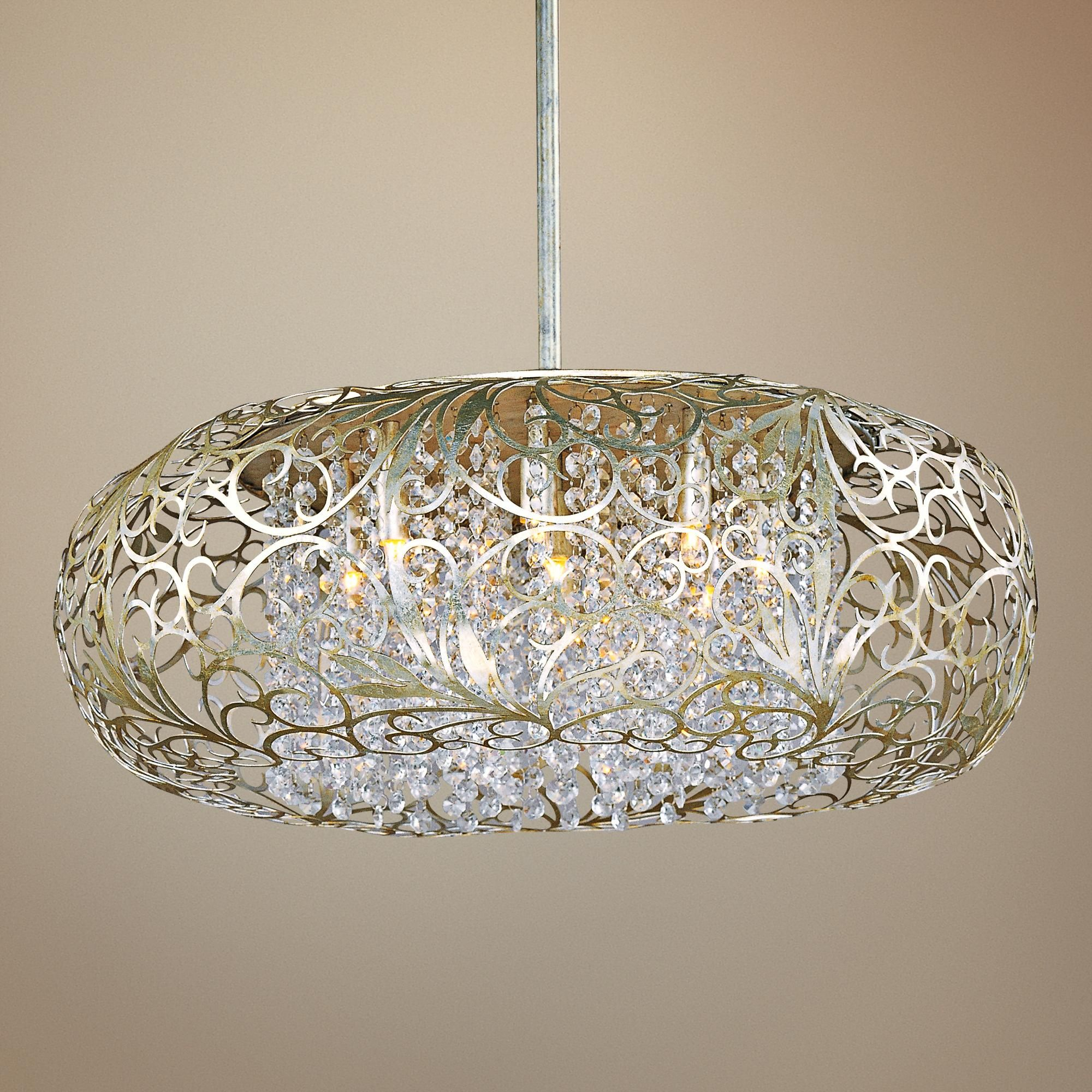 "Lamps Plus Pendant Lights Best Maxim Arabesque 24"" Wide Golden Silver Pendant Light  Pendant 2018"