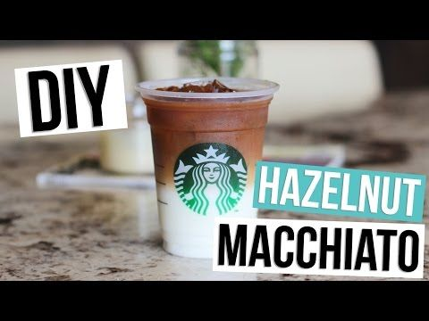 DIY STARBUCKS! Iced Hazelnut Macchiato! - YouTube