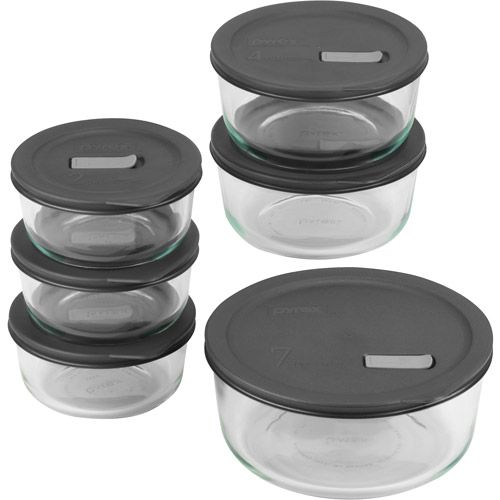 Pyrex No Leak Lids 12 Piece Storage Set Pyrex Bake Serve