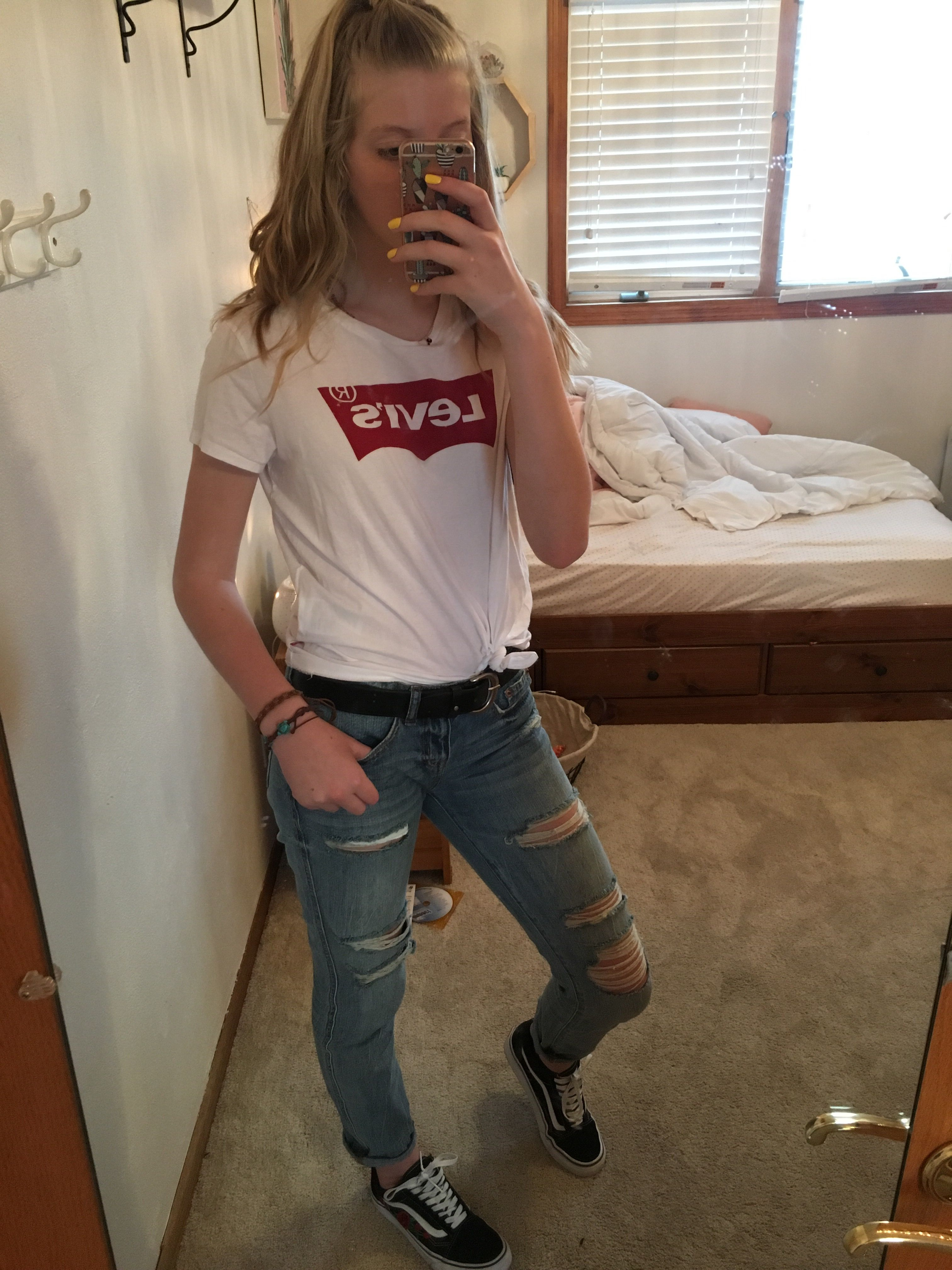 Outfit Cute Jeans Vans Levi S Outfit Cute Jeans Outfits For